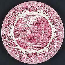 17th Century Red by Staffordshire Engraving RARE