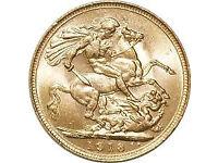 Gold sovereign/britannia wanted