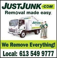 Locally Owned & Operated Full Service Junk Removal 613-549-9777