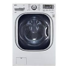 Laveuse électrique LG 27 po, 5.2pi.cu.,Chargement frontal, Chauffe-eau, Vapeur, Couleur Blanche, (SKU : 1127), WM4270HW4