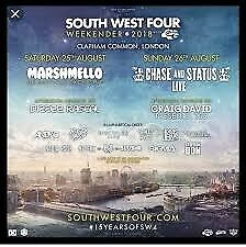 1 x South West Four ticket for Sat 25th August, £50