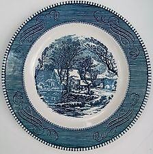 """The Old Grist Mill"" Currier and Ives plate"