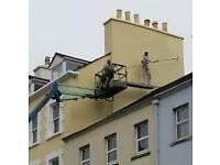 Painter Hamilton/Bothwell/Lanarkshire/interior/exterior/cherry picker