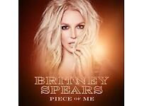 2 x lower level Britney Spears tickets London O2 - 26th AUG