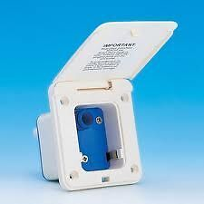 CARAVAN WHALE WATERMASTER INLET SOCKET MICROSWITCH TYPE ES1000 IN IVORY