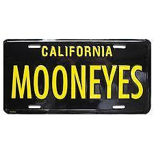 Mooneyes Black/yellow California Licence Plate Mg081bk///4