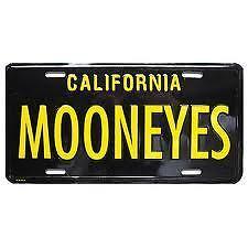 Mooneyes Black/yellow California Licence Plate Mg081bk///4