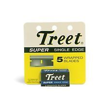 New TREET Super 5 Wrapped Single Edge Razor Blades PACK OF 24-TOTAL 120 RAZORS