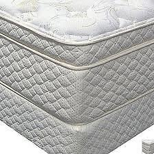 LUXURY QUEEN SIZE PILLOW TOP MAT/BOX  NO TAX FREE DELIVERY 10 YR Kitchener / Waterloo Kitchener Area image 3