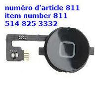 Home Menu Button Flex Cable + Key Cap Assembly for iPhone4 PARTS