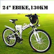 "Spring Promotion!  High Quality 24"" Folding Mountain eBike, 130km $1699(was $2199)"