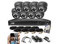 cctv security camera kit swann/hiwatch.hik sd hd