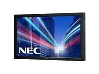"NEC LCD 46"" Monitor MultiSync V462 Full HD 1920x1080 L460UB with flight case and stand"