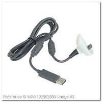 Microsoft Xbox 360 Battery Pack Controller Charger -  White