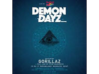 2 Demon Dayz Festival tickets (priority entry) featuring Gorrilaz