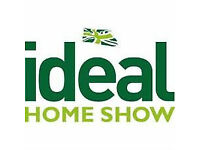 4 x Ideal Home Show/ Eat & Drink Festival £10 17 March - 2 April ANY WEEKEND DAY TICKET