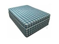 Brand New Comfy Double Padded spring mattress and base FREE Delivery