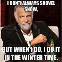 Snow removal service on your driveway and walkway!
