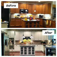 KITCHEN CABINET REFACING **** 905-691-6616****