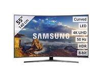 """Samsung 55""""4k Curved UHD LED Tv wi-fi Warranty Free Delivery"""