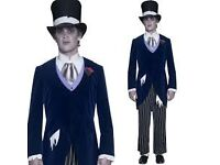 GOTHIC MANOR CORPSE GROOM FANCY DRESS OUTFIT SIZE M GREAT FOR A PARTY OR STAG DO