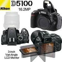 MINT NIKON D5100 BODY WITH 2000 SHOTS ALL ACCESSORIES $375