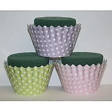 OASIS SMALL CUPCAKE FOAM WITH POLKA DOT PATTERN 6 IN A BOX WEDDING OR PARTY