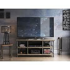 Irondale Open Architecture TV Stand for TVs up to 60 inches, Autumn NEW ** 5 CORNERS FURNITURE **