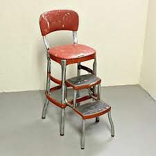 Retro style Step Stool Chair