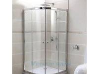 800x800 Walk In Quadrant Shower Cubicle Enclosure Door No Waste No Tray