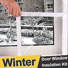 "5 Window 64"" x 210 inch Indoor Insulator Kit, 5-pk Climaloc Comfort Plus Window Kit, Premium Film $15"