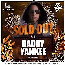 Billet Daddy Yankee Beach Club