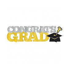 Amscan Congrats Grad Glitter Table Decoration