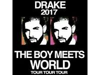 2 DRAKE TICKETS LONDON 02 20TH MARCH