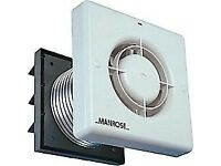 """Manrose XP100TB 100mm 4"""" Axial Extractor Fan Pack wth Timer Ducting & Wall Grill........Brand New"""