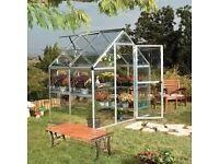 6x4 Polycarbonate Silver Greenhouse