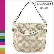 Coach Signature Khaki White