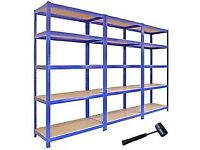 Solid shelving five tier total of seven can be dismantled, easy to set up