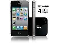 APPLE iPhone 4s 8GB BLACK VODAFONE/TALKTALK 60 DAYS WARRANTY GOOD CONDITION LAPTOP/PC USB LEAD