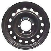 FOUR 17'' BLACK STEEL 6 BOLT HOLE CHEV/GM/OTHER RIMS