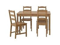 IKEA JOKKMOKK Solid Pine Dining Table and 4 chairs