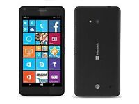 Microsoft Lumia 640 smartphone for sale, black, only 2 weeks old, as-new condition, spare battery