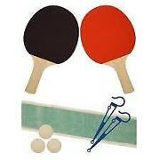 Table Tennis Bats and Net