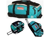 Makita LXT 600 Large Heavy Duty Tool Bag - 831279-0, c/w Wheels, pockets & carry strap - New RRP £83