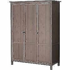 Brand New Boxed Preston 3-Door Wardrobe in Grey - RRP £249 - Current Season Stock - *OPEN TO OFFERS*