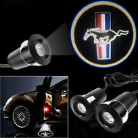 MUSTANG FORD LOGO LASER GHOST PAIR HIGH POWER LED PROJECTEUR NEW