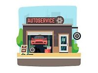 running car servicing garage for sale