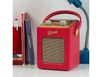 New Boxed Roberts Digital Radio Revival Mini DAB/DAB+/FM Red Was: £149.99