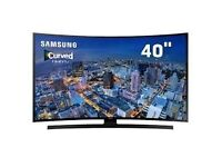 """Brand new 40"""" Samsung 4k curve tv ,selling it for £500, price is negotiable and guaranteed."""