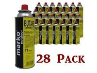 28 BUTANE GAS BOTTLES CANISTER CAMPING HEATER COOKER BBQ COOKING STOVE GRILL NEW